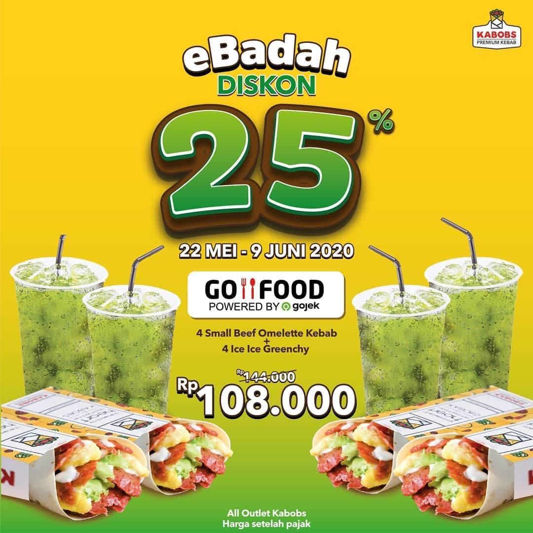 Diskon Kabobs Promo eBadah, Diskon 25% Untuk Pemesanan Paket Spesial Melalui GoFood