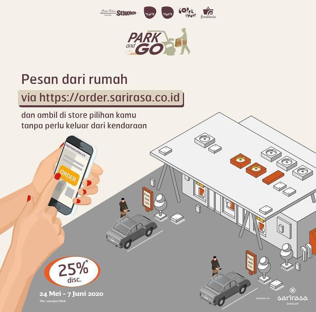 Diskon Sari Rasa Group Promo Diskon 25% Untuk Pemesanan Delivery/Take Away