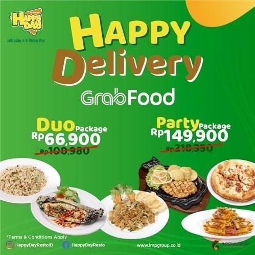 Diskon Happy Day Promo Happy Delivery Untuk Pemesanan Paket Duo Melalui GrabFood