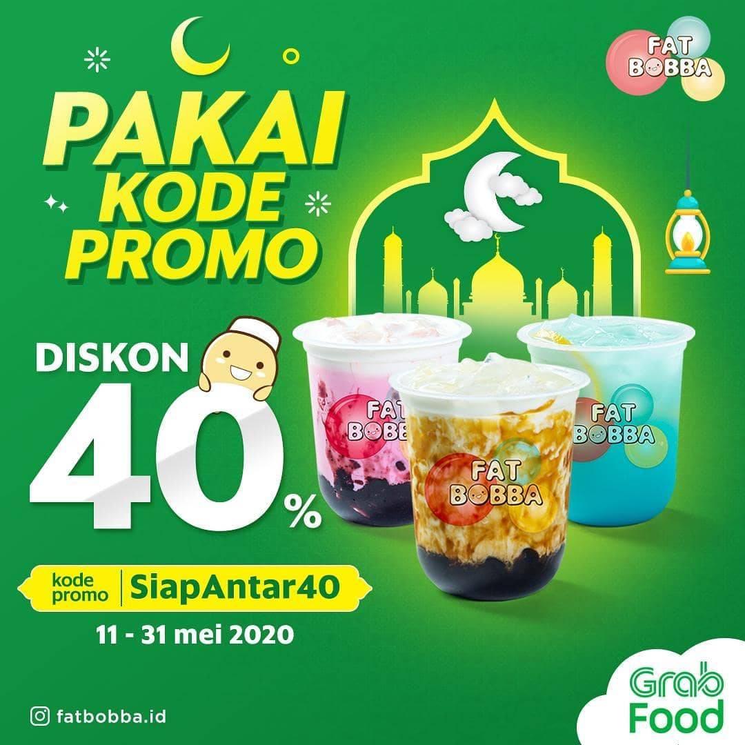 Diskon Fat Bobba Promo Diskon 40% Untuk Pemesanan Menu Melalui GrabFood
