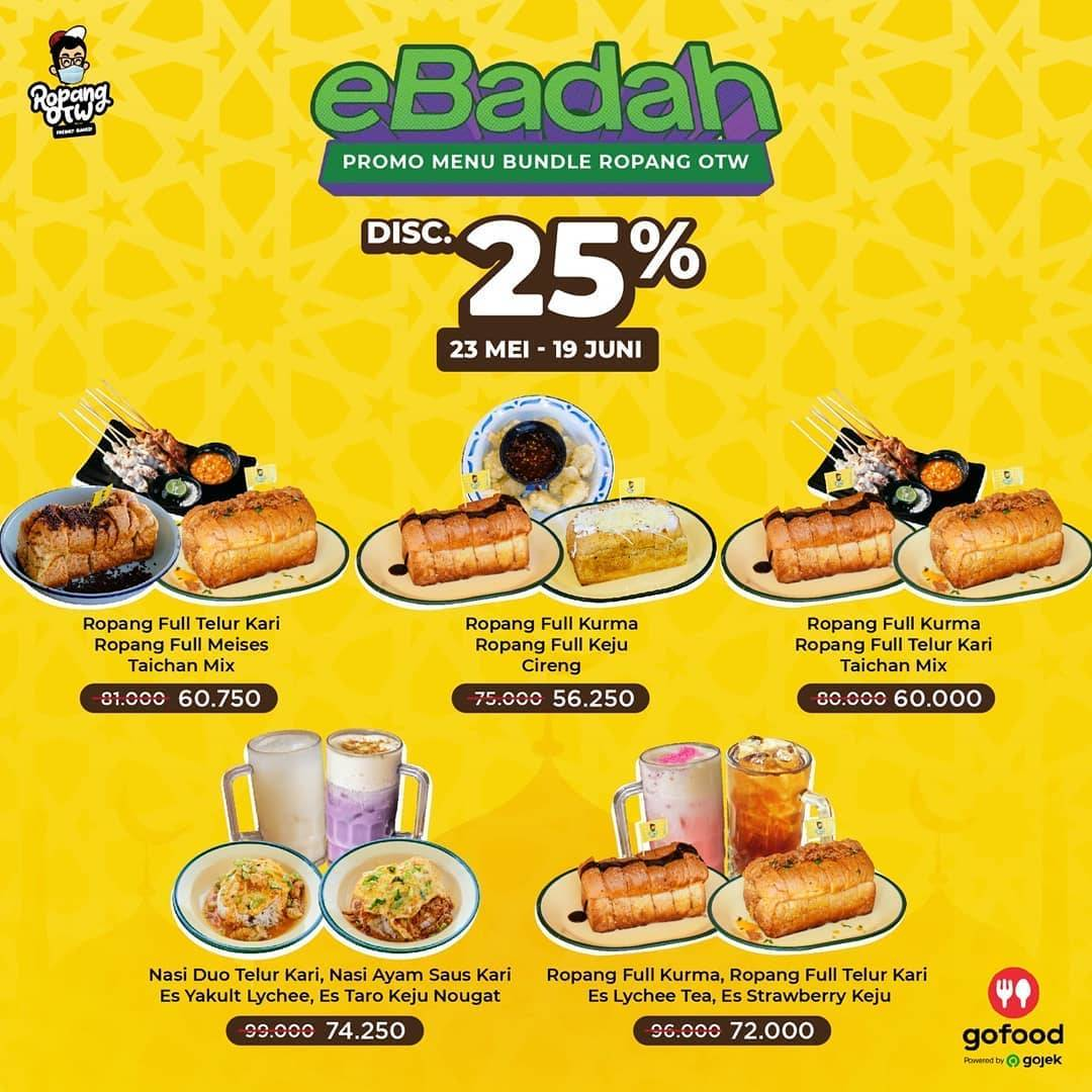 Diskon Ropang OTW Promo eBadah, Diskon 25% Untuk Pemesanan Menu Bundle Melalui GoFood