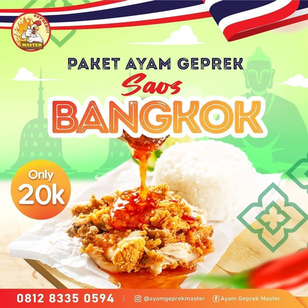 Diskon Ayam Geprek Master Promo Paket Ayam Geprek Saos Bangkok Cuma Rp. 20.000