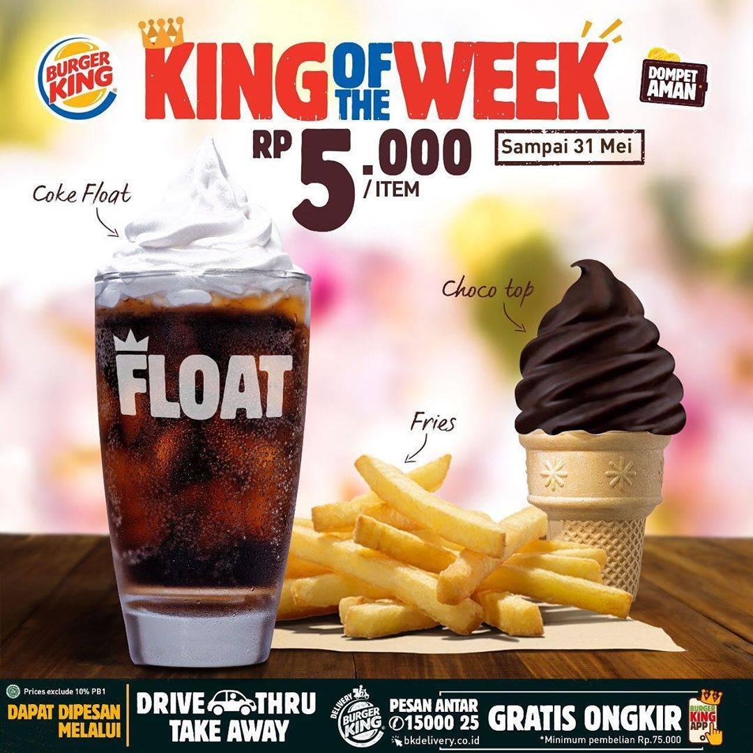 Diskon Burger King Promo King Of The Week, Dapatkan Menu Dengan Harga Mulai Dari Rp. 5.000