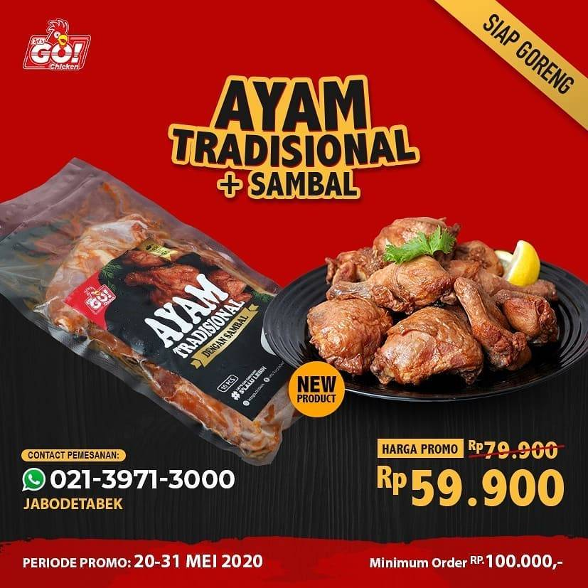 Diskon Let's Go Chicken Promo Harga Spesial Ayam Tradisional + Sambal Hanya Rp. 59.900