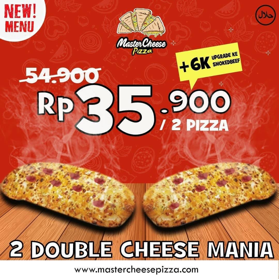 Diskon Mastercheese Pizza Promo Menu Baru Dengan Harga Rp. 35.900 + Diskon 50% Dari GrabFood