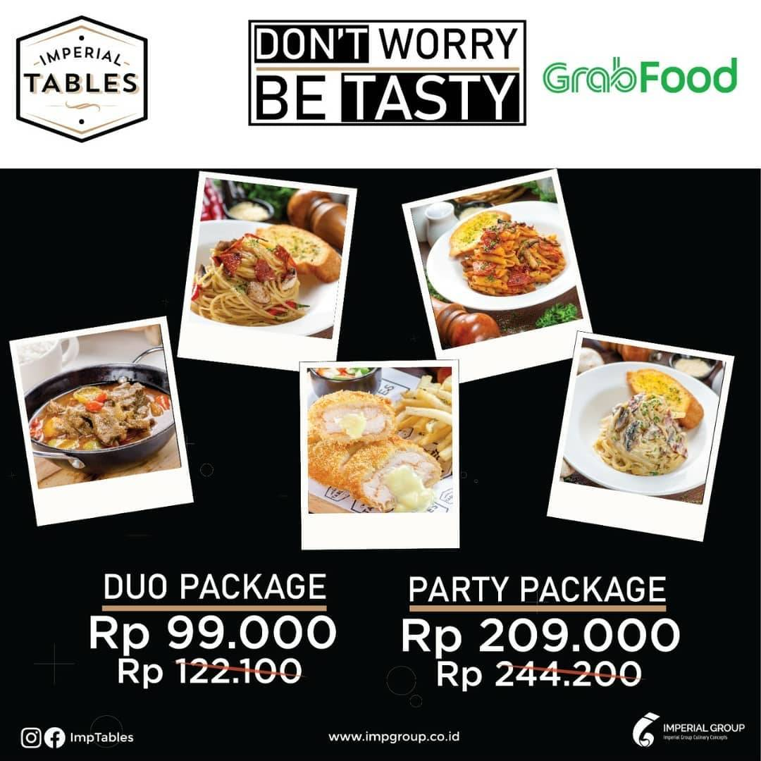 Diskon Imperial Tables Promo Duo & Party Package On GrabFood