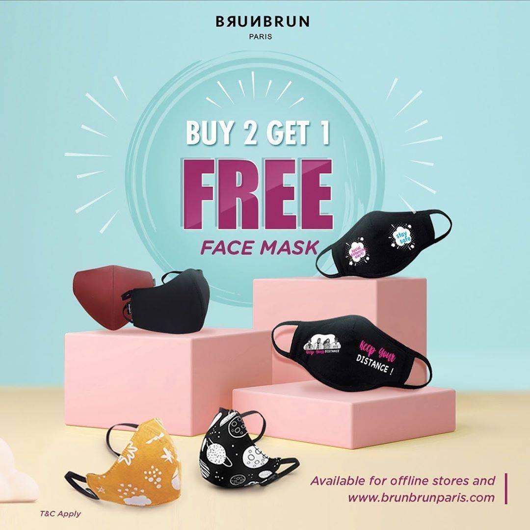 Diskon Brun Brun Promo Buy 2 Get 1 Free Face Mask