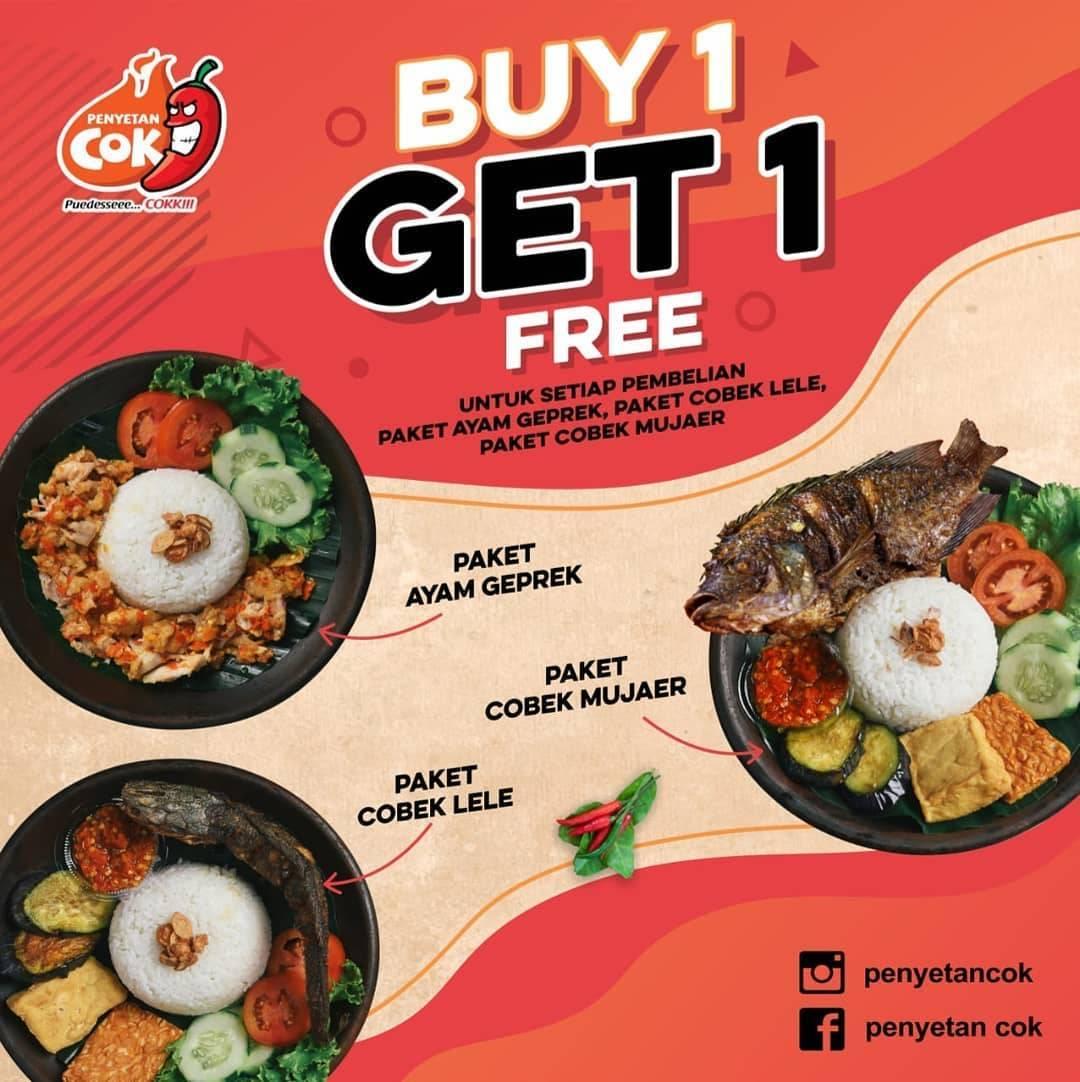 Diskon Penyetan Cok Promo Buy 1 Get 1 Free Paket Favorit