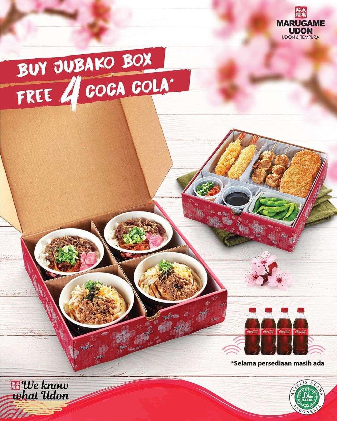 Diskon Marugame Udon Promo Gratis 4 Coca Cola 250ml Setiap Pembelian Jubako Box