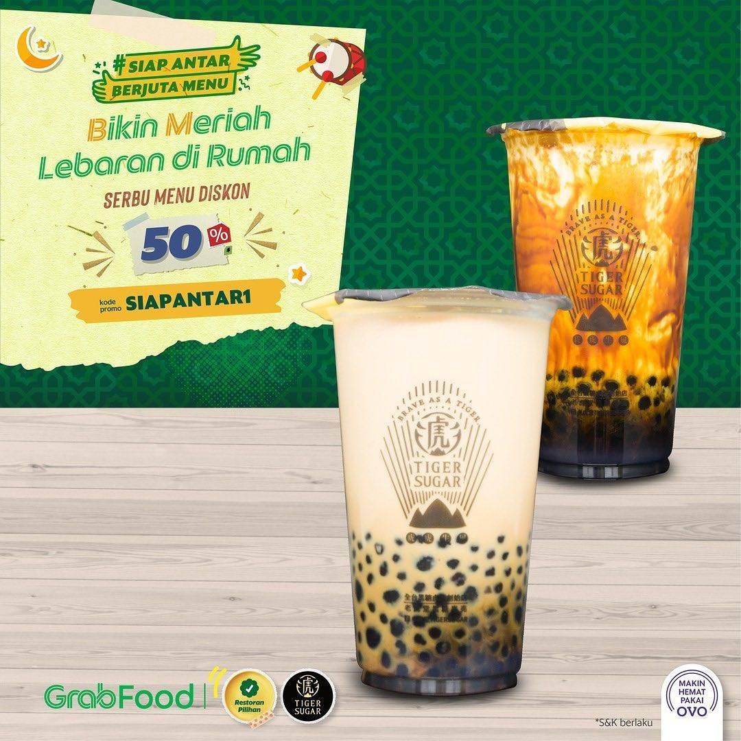 Diskon Tiger Sugar Promo Diskon 50% Untuk Pemesanan Brown Sugar Boba Milk Melalui GrabFood