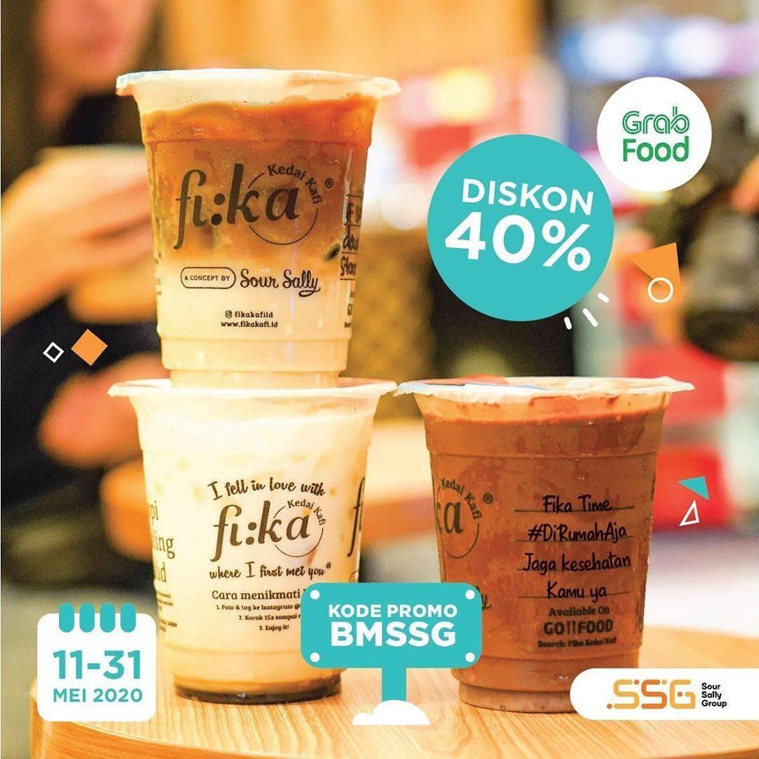 Diskon Fika Kafi Promo Diskon 40% Untuk Pemesanan Minuman Melalui GrabFood