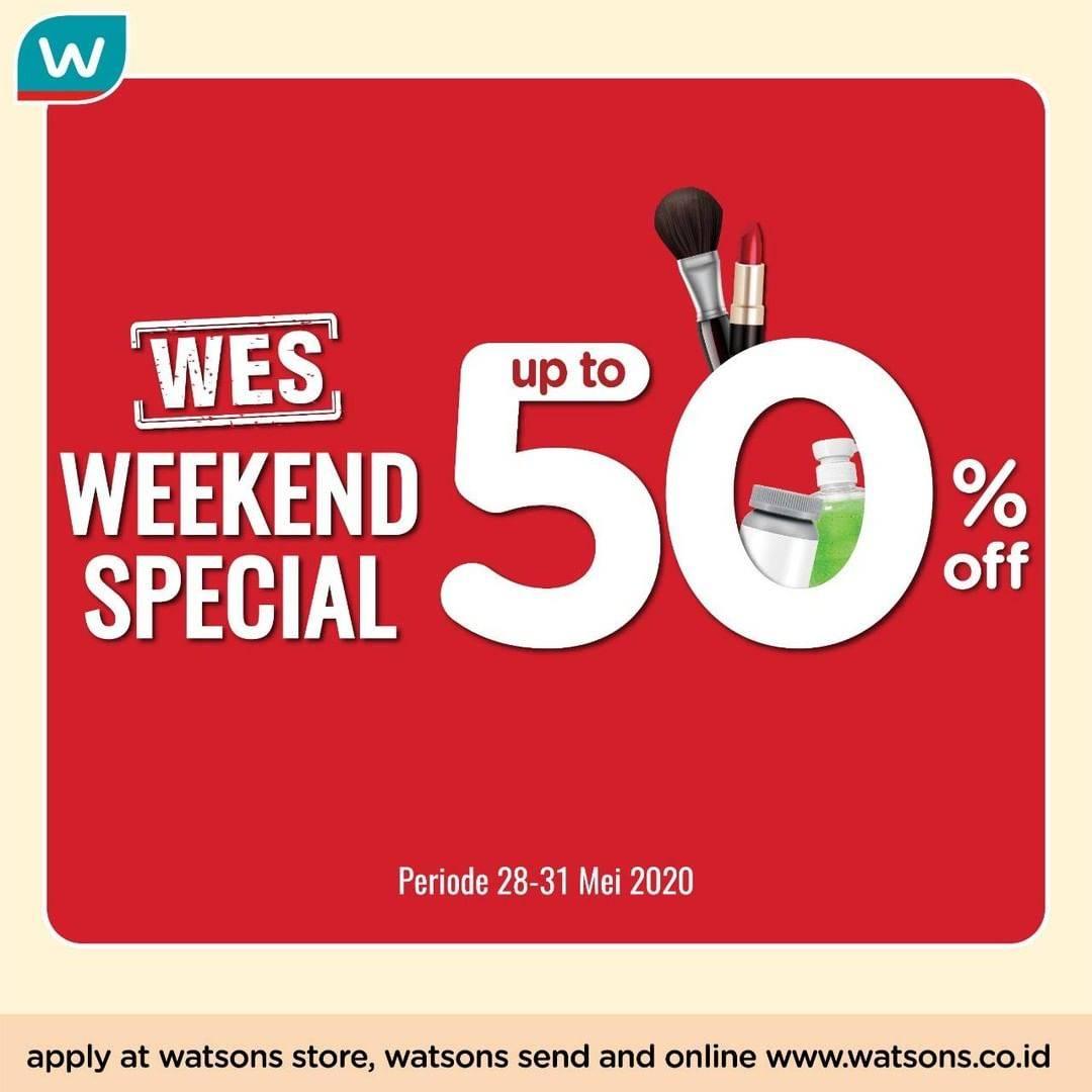 Diskon Watsons Promo Weekend Special Dapatkan Diskon Hingga 50%