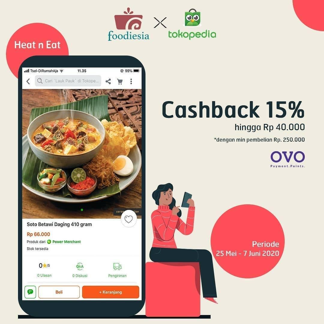 Diskon Foodesia Promo Cashback 15% Setiap Transaksi Menggunakan OVO