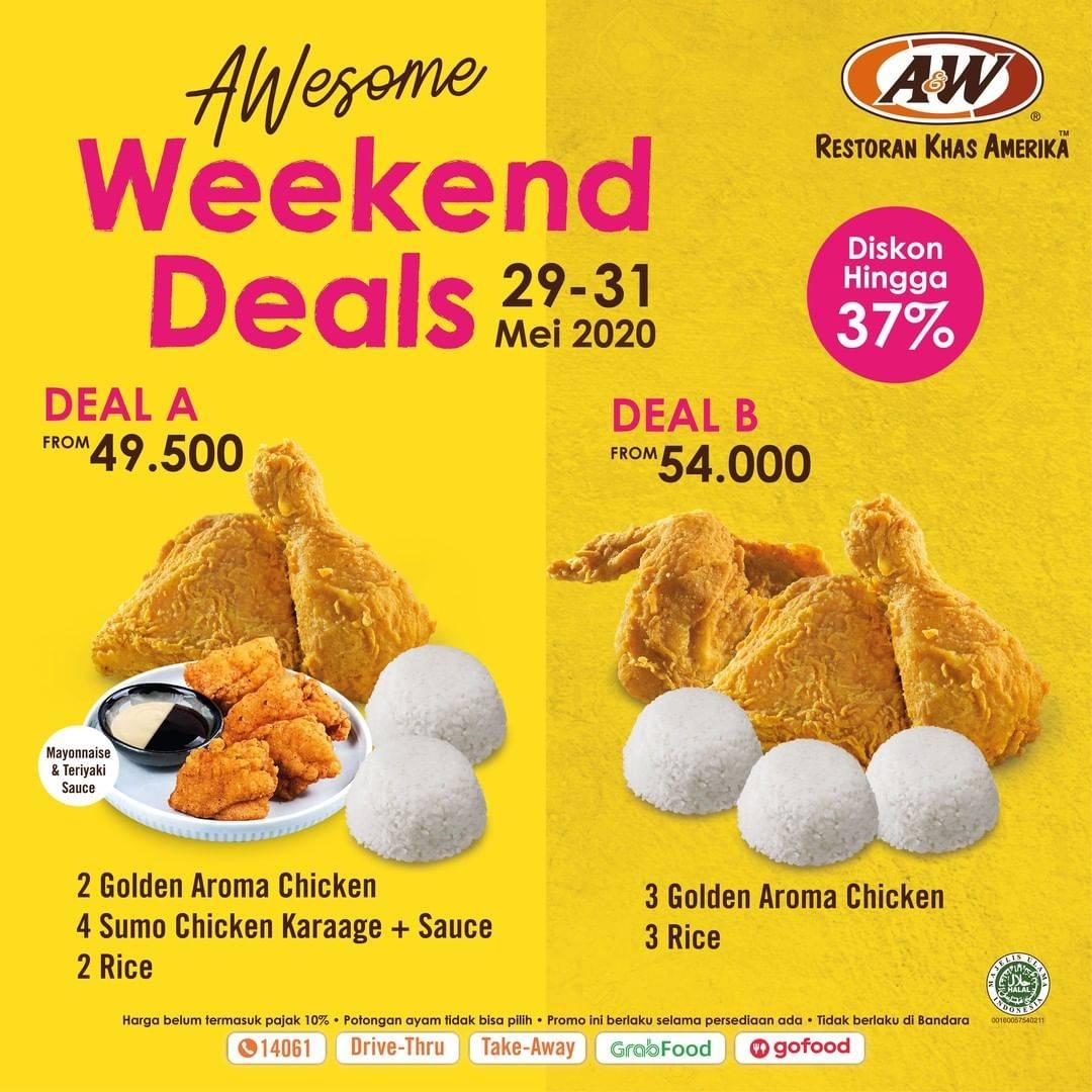 Diskon A&W Promo Weekend Deals, Dapatkan Diskon Hingga 37% Untuk Paket Favorit