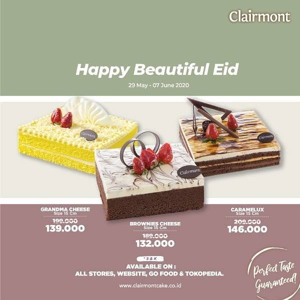 Diskon Clairmont Petisserie Promo Happy Beautiful Eid