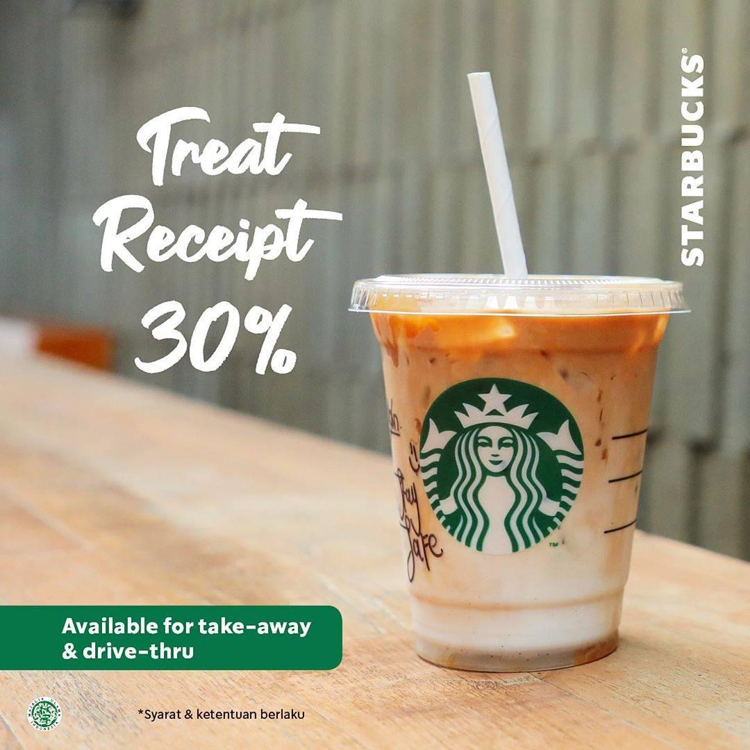 Diskon Starbucks Promo Treat Receipt Diskon 30%