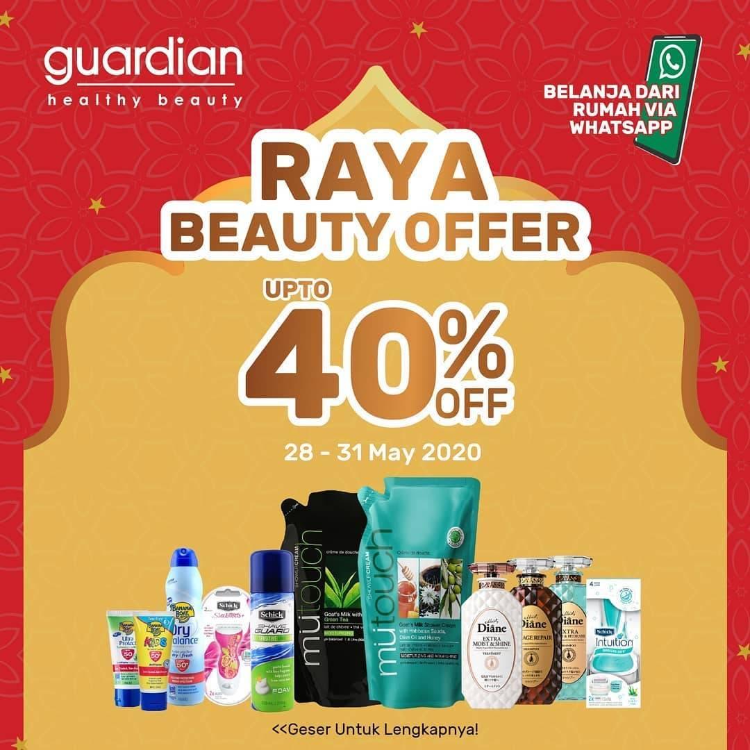 Diskon Guardian Promo Beauty Raya Offer Dapatkan Diskon Hingga 40% Untuk Produk Favorit