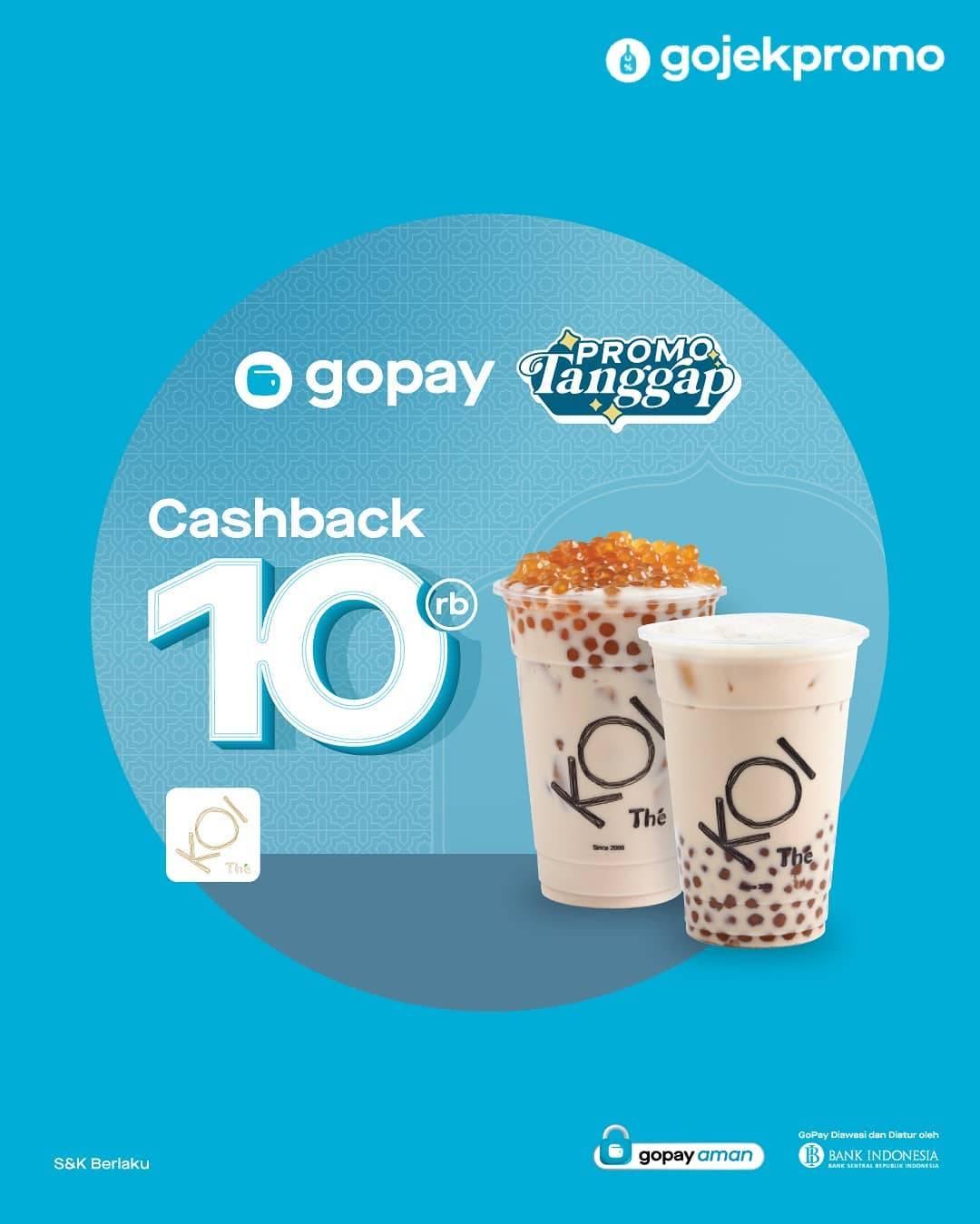Diskon Koi Cafe Cashback 10% Dengan Gopay