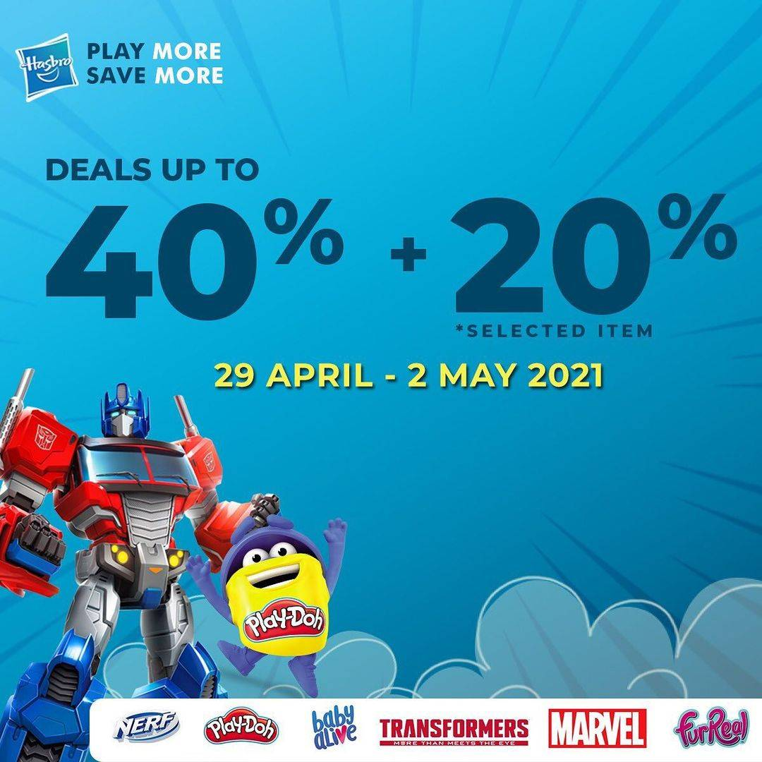 Diskon Kidz Station Deals Up To 40% + 20% On Selected Items