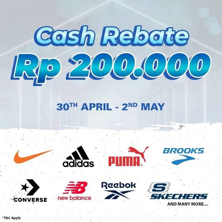 Diskon Planet Sports Cash Rebate Rp. 200.000