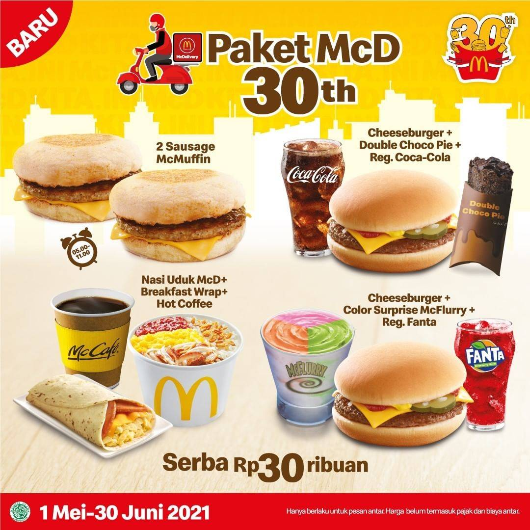 Diskon McDonalds Promo Paket Serba Rp. 30Ribuan