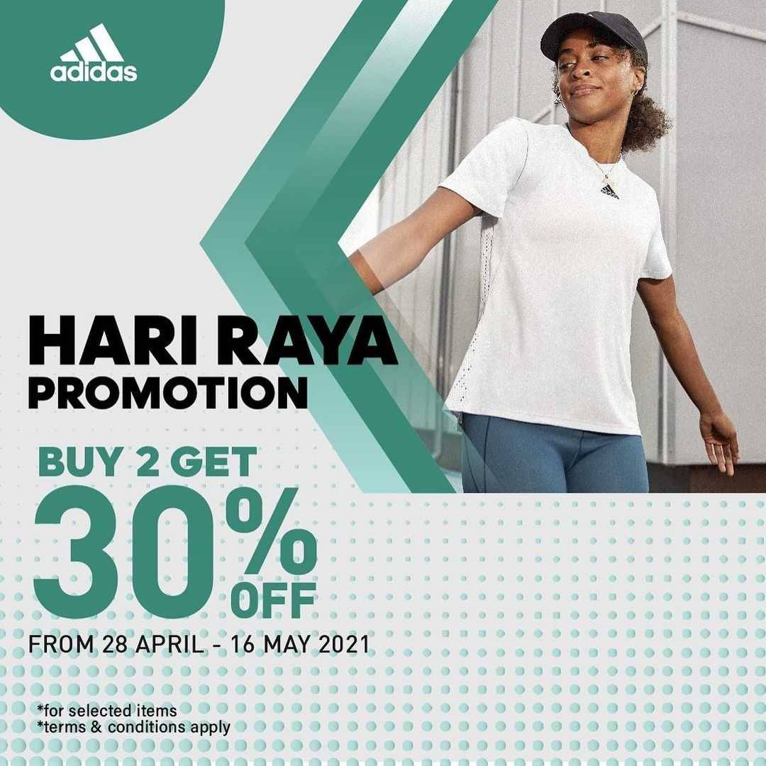 Promo diskon Adidas Buy 2 Get Discount 30% Off