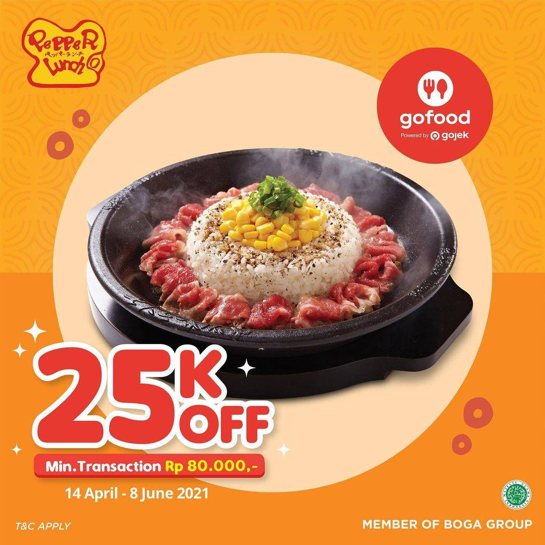 Diskon Pepper Lunch Discount Rp. 25.000 GoFood
