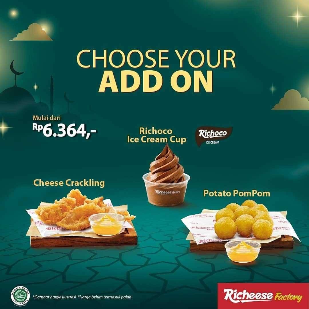Promo diskon Richeese Factory Promo Paket Seru Burger Berhemat Mulai Dari Rp. 36.364