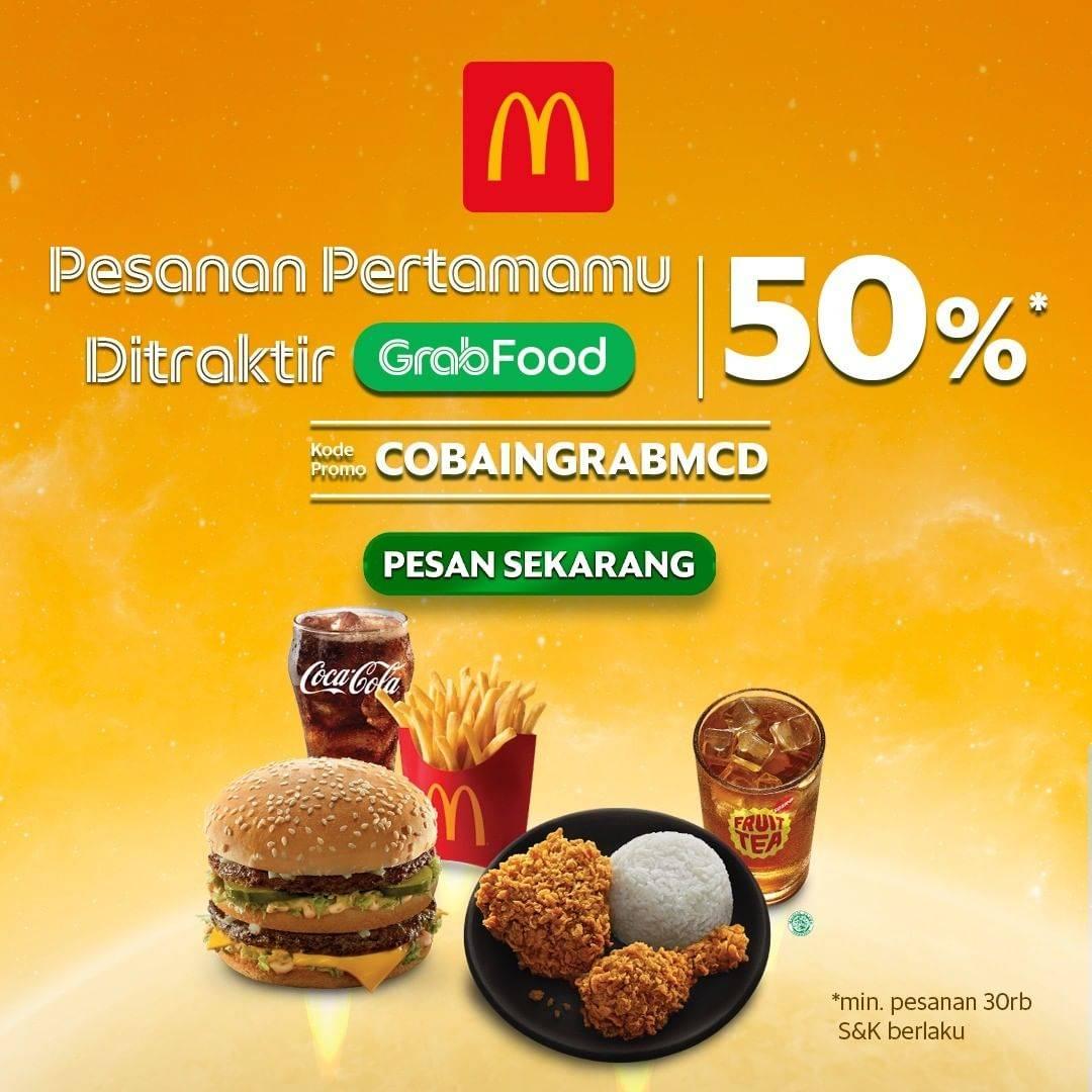 Diskon McDonalds Diskon 50% Dengan Grabfood