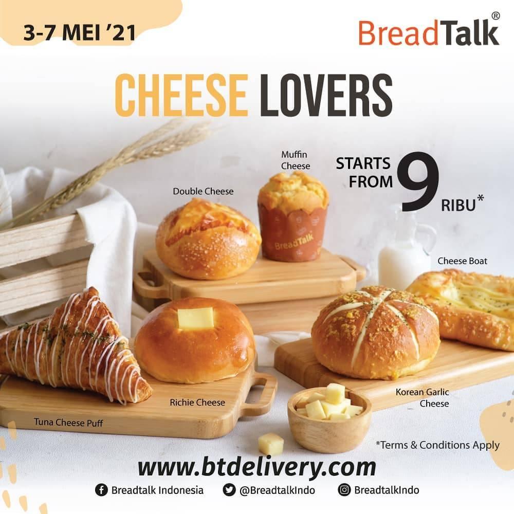 Diskon Breadtalk Promo Cheese Lovers Start From Rp. 8.000