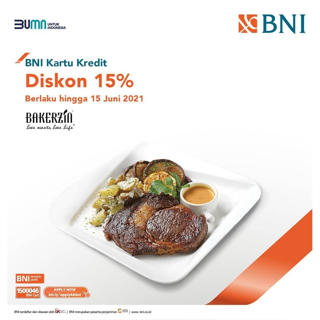 Diskon Bakerzin Diskon 15% Dengan Kartu Kredit BNI