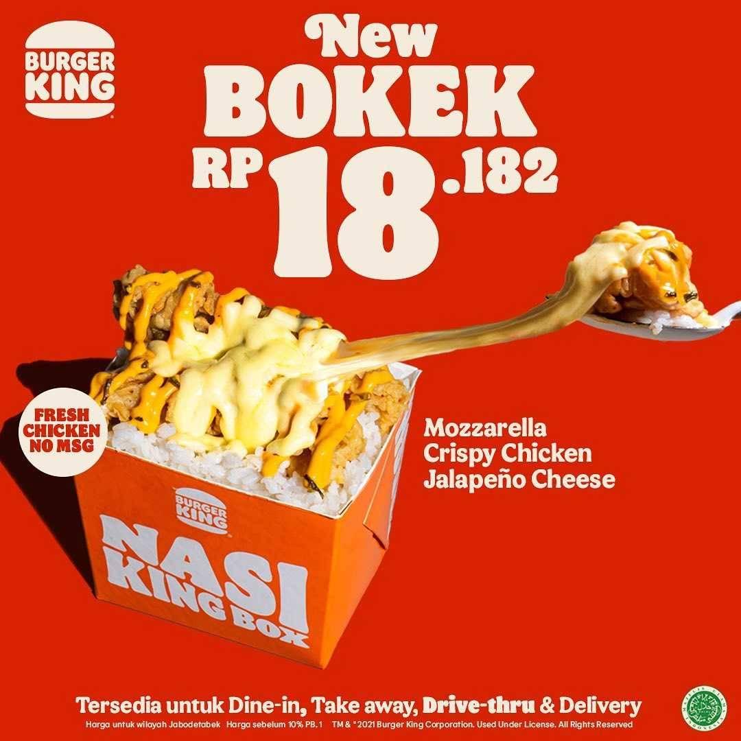 Promo diskon Burger King Promo Bokek Of The Week Mulai Dari Rp. 5.000