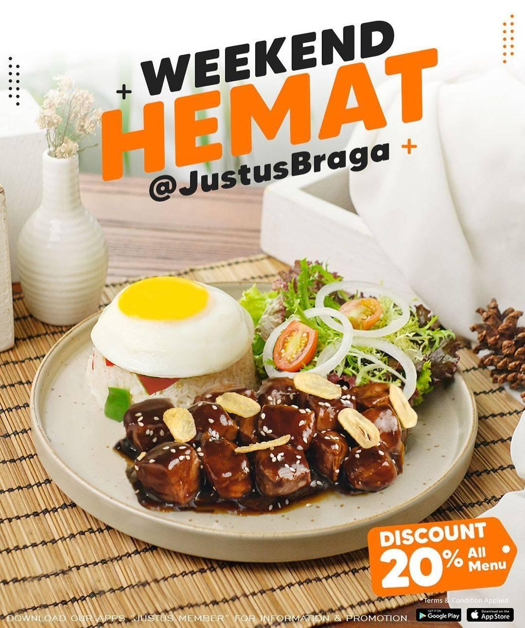 Diskon Just Us Burger Steak Discount 20% Off On All Menu