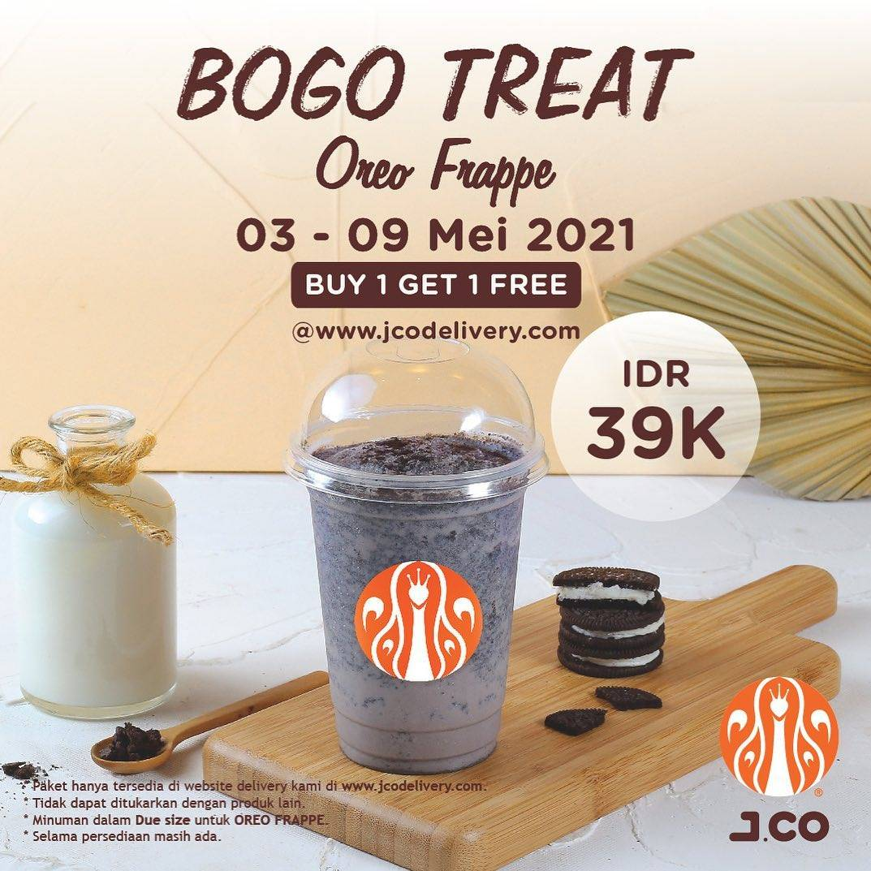 Diskon JCO Buy 1 Get 1 Free Oreo Frappe