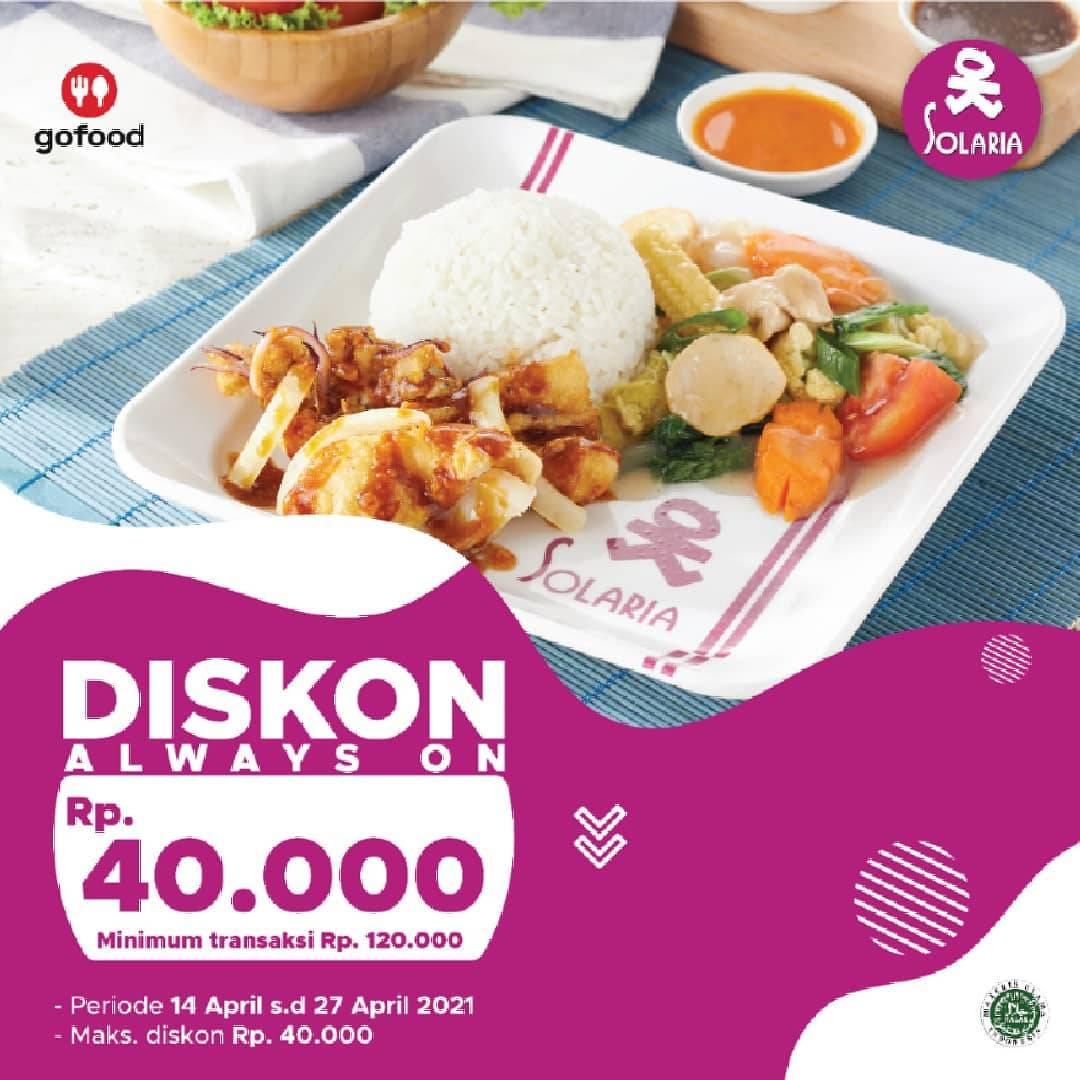 Diskon Solaria Diskon Always On Rp. 40.000 Dengan GoFood