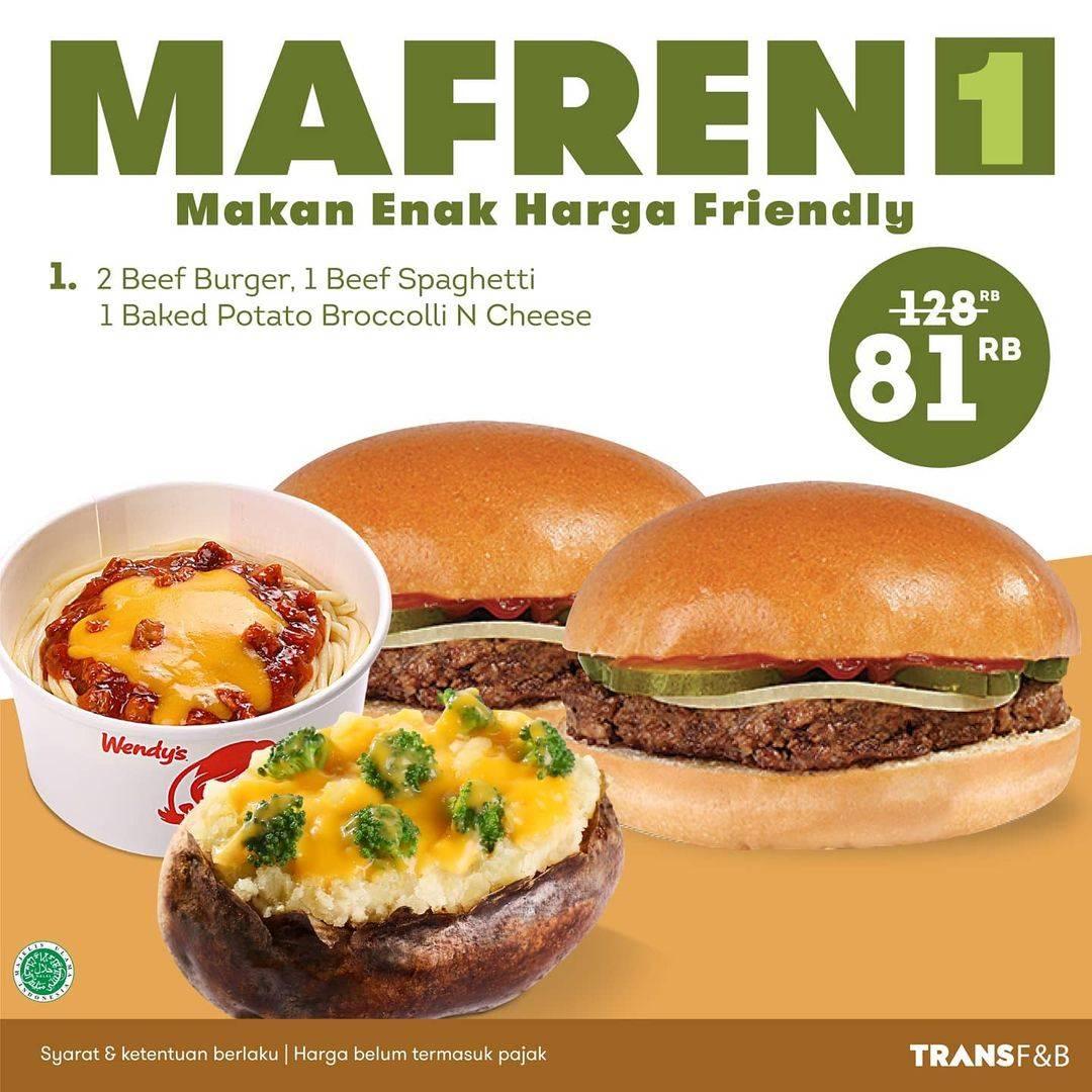 Diskon Wendys Promo Paket Mafren
