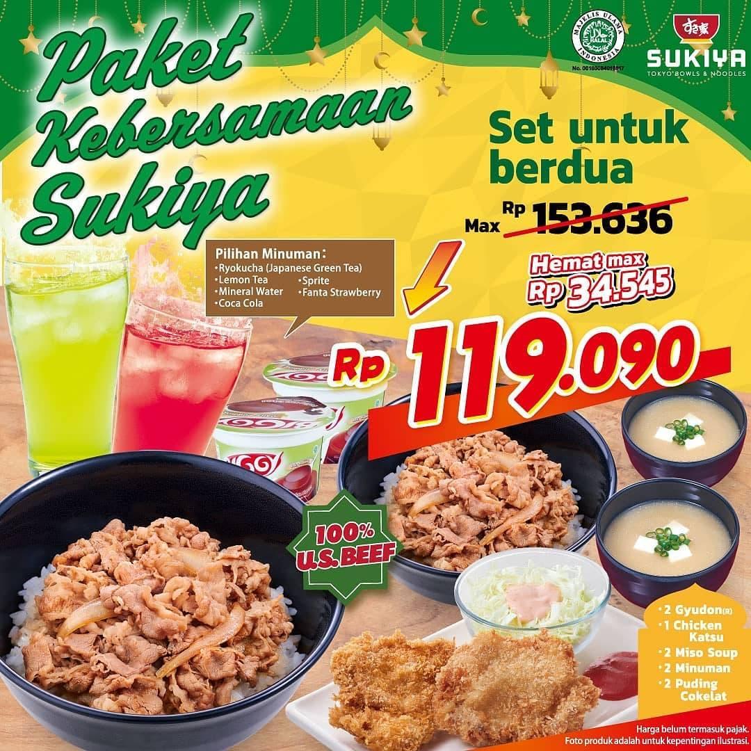 Diskon Sukiya Promo Paket Kebersamaan Sukiya Hanya Rp. 119.090