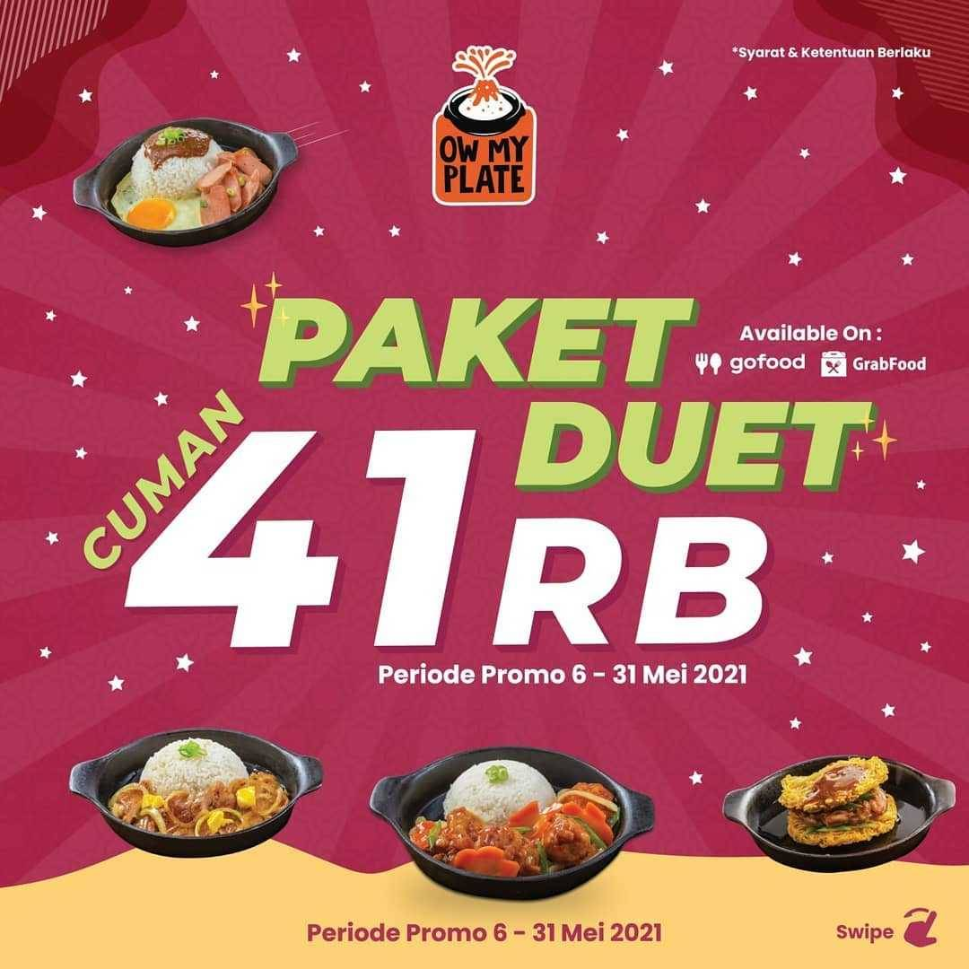 Diskon Ow My Plate Paket Duet Cuma Rp. 41.000