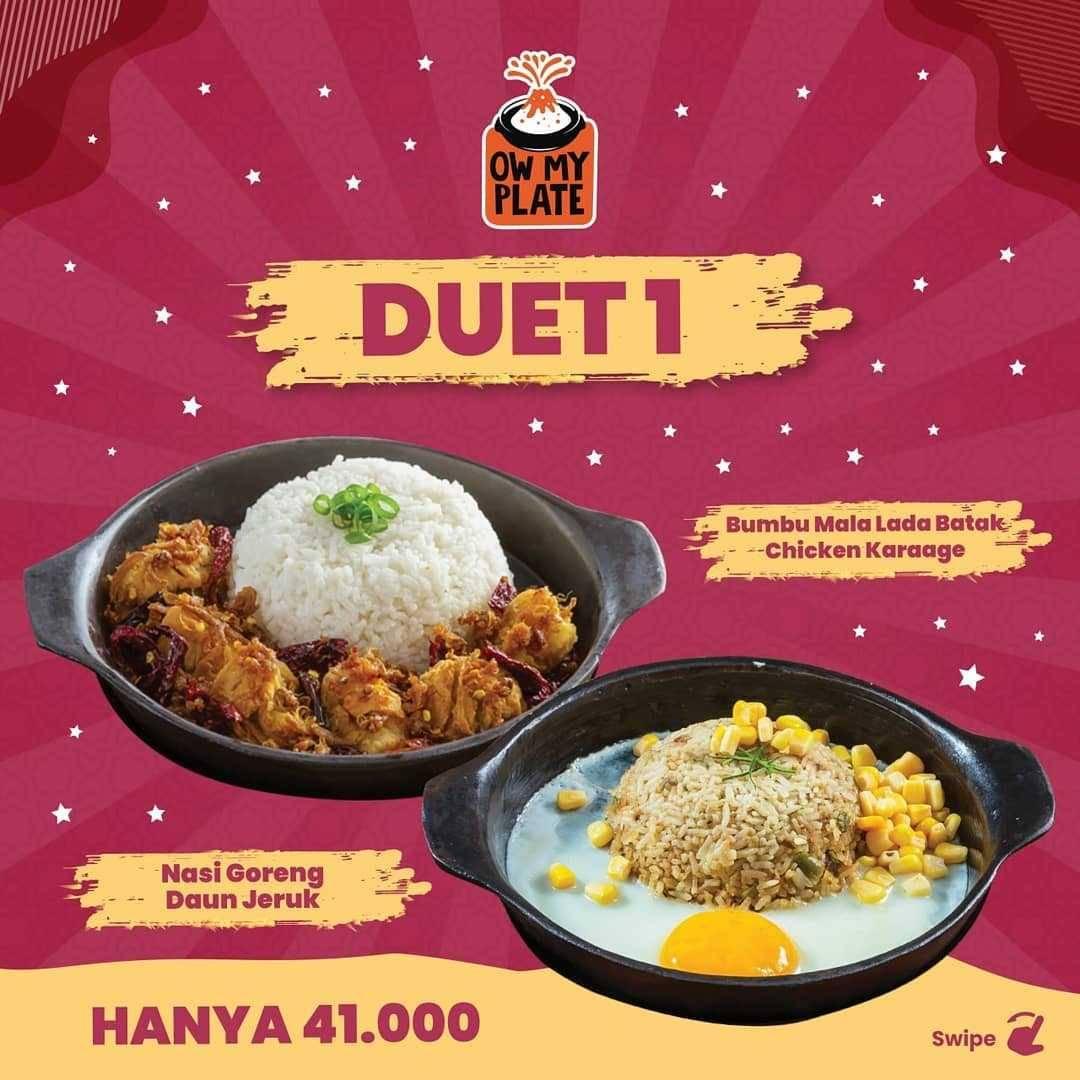 Promo diskon Ow My Plate Paket Duet Cuma Rp. 41.000