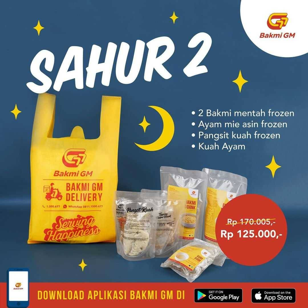 Promo diskon Bakmi GM Promo Paket Sahur Mulai Dari Rp. 125.000