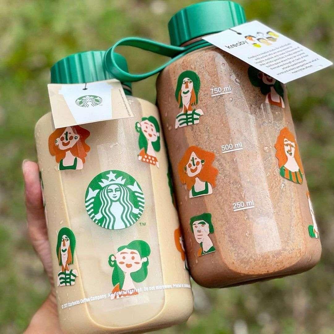 Diskon Starbucks Promo Koleksi 1L Reusable Bottle Kreaby Hanya Rp. 99Ribu