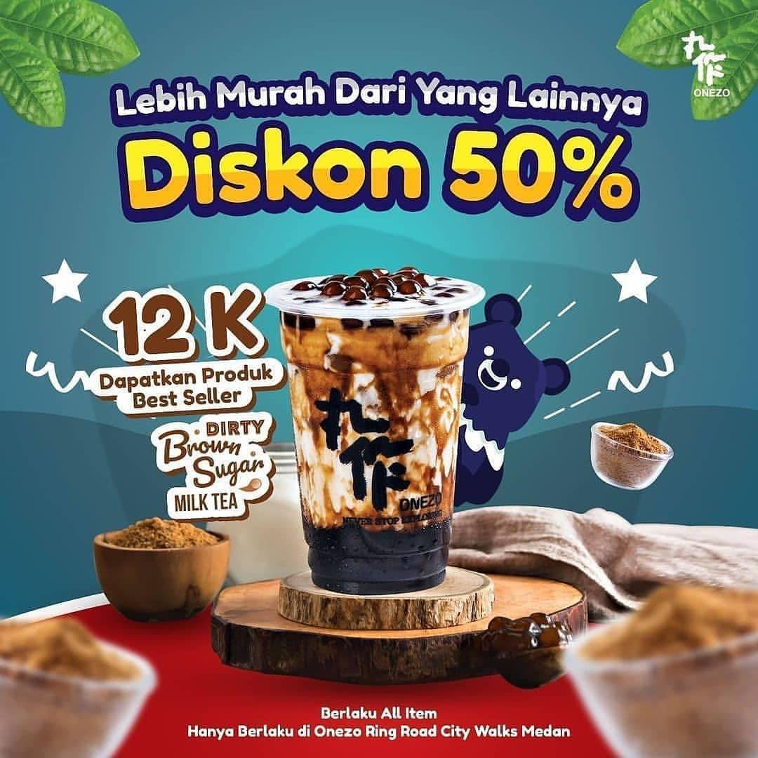 Diskon Onezo Diskon 50% Untuk Dirty Brown Sugar Milk Tea