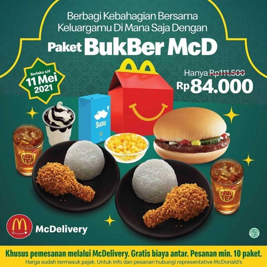 Diskon McDonalds Paket Bukber McD Hanya Rp. 84.000