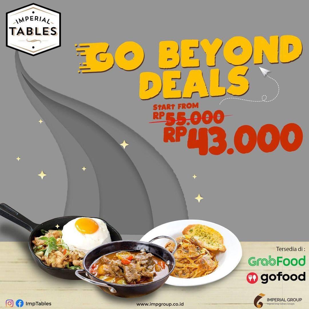 Diskon Imperial Tables Promo Go Beyond Deals Mulai Dari Rp. 43.000
