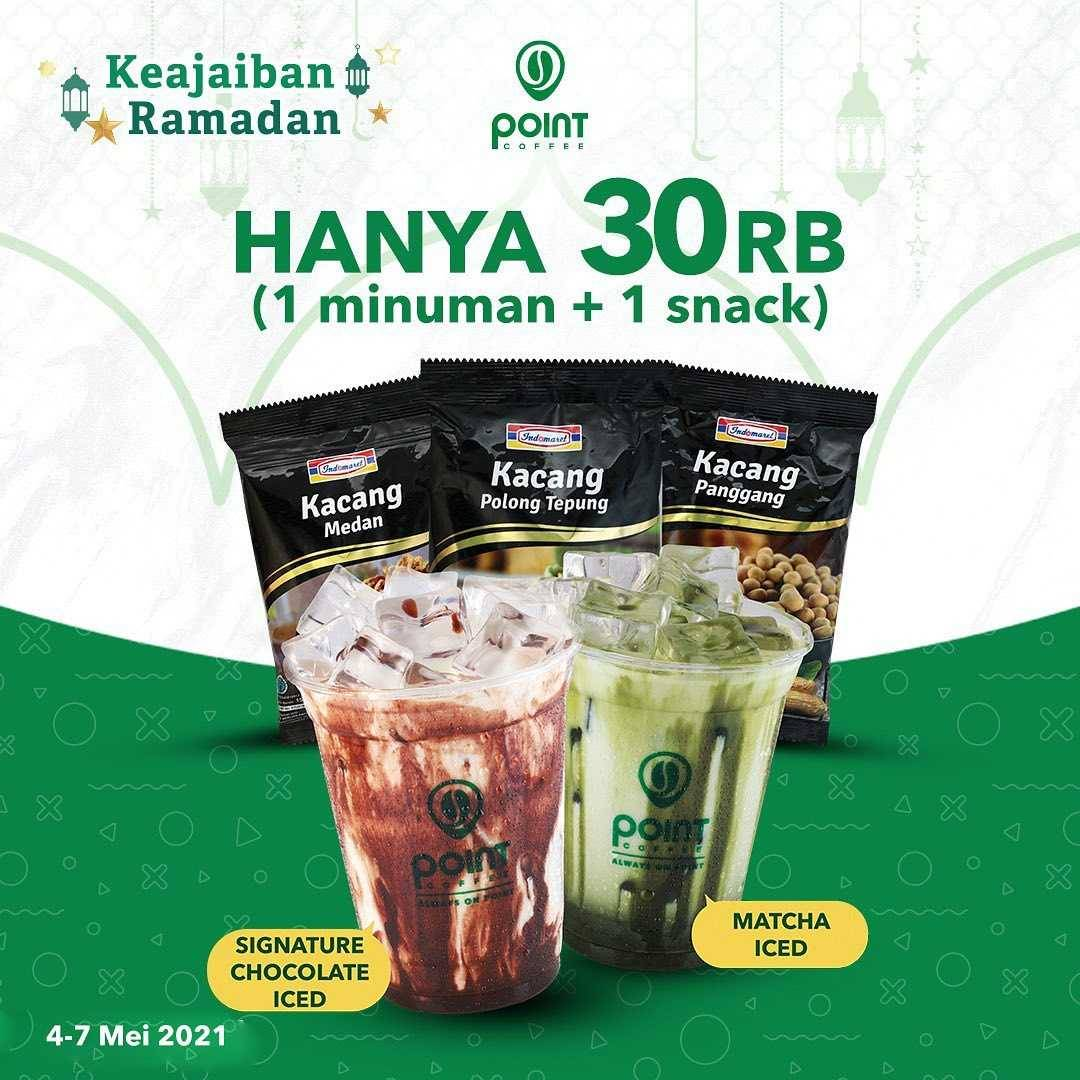 Diskon Point Coffee Promo 1 Minuman + 1 Snack Hanya Rp. 30.000