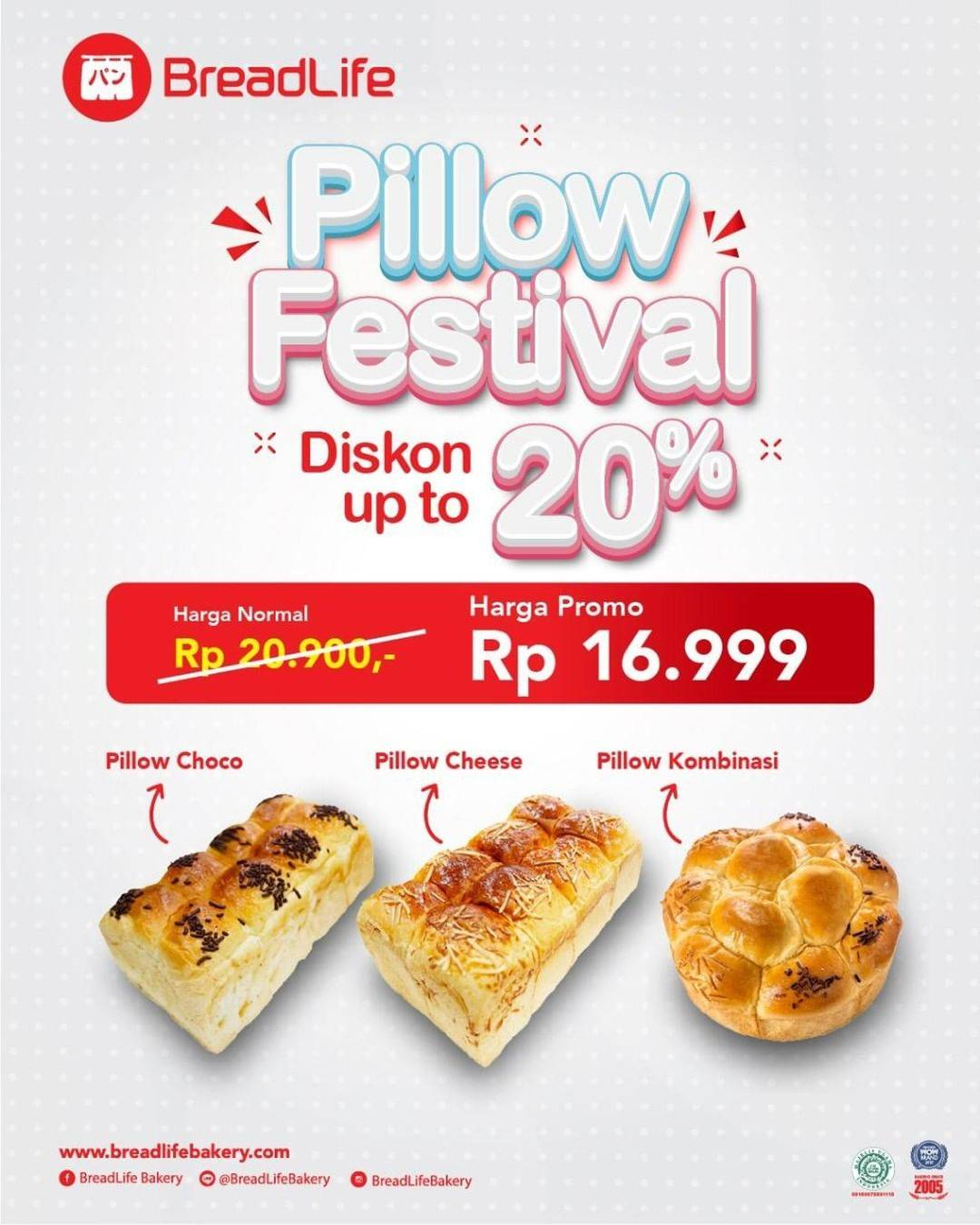 Diskon Breadlife Pillow Festival Discount Up To 20% Off
