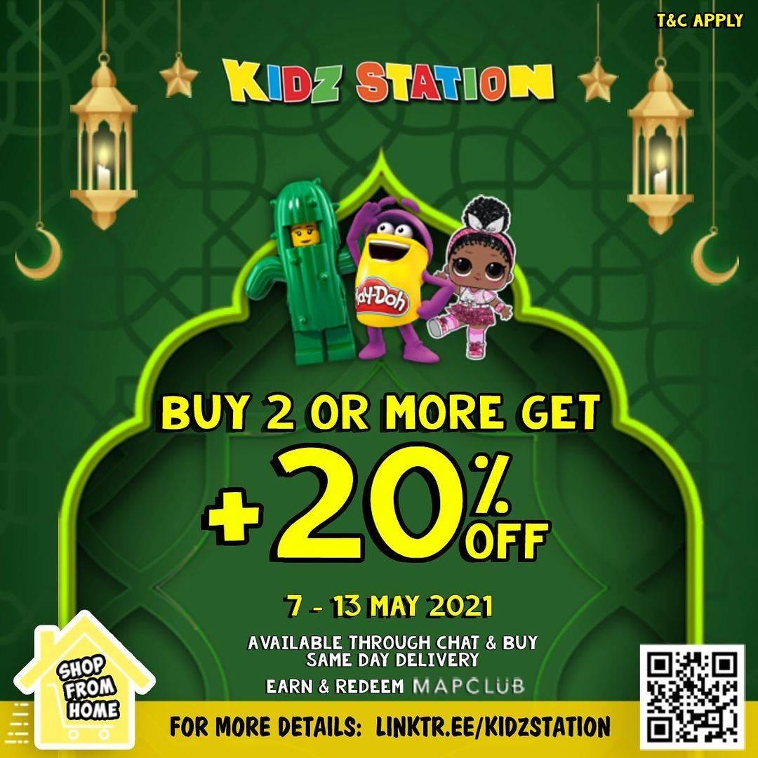 Diskon Kidz Station Buy 2 Or More Get + Discount 20% Off