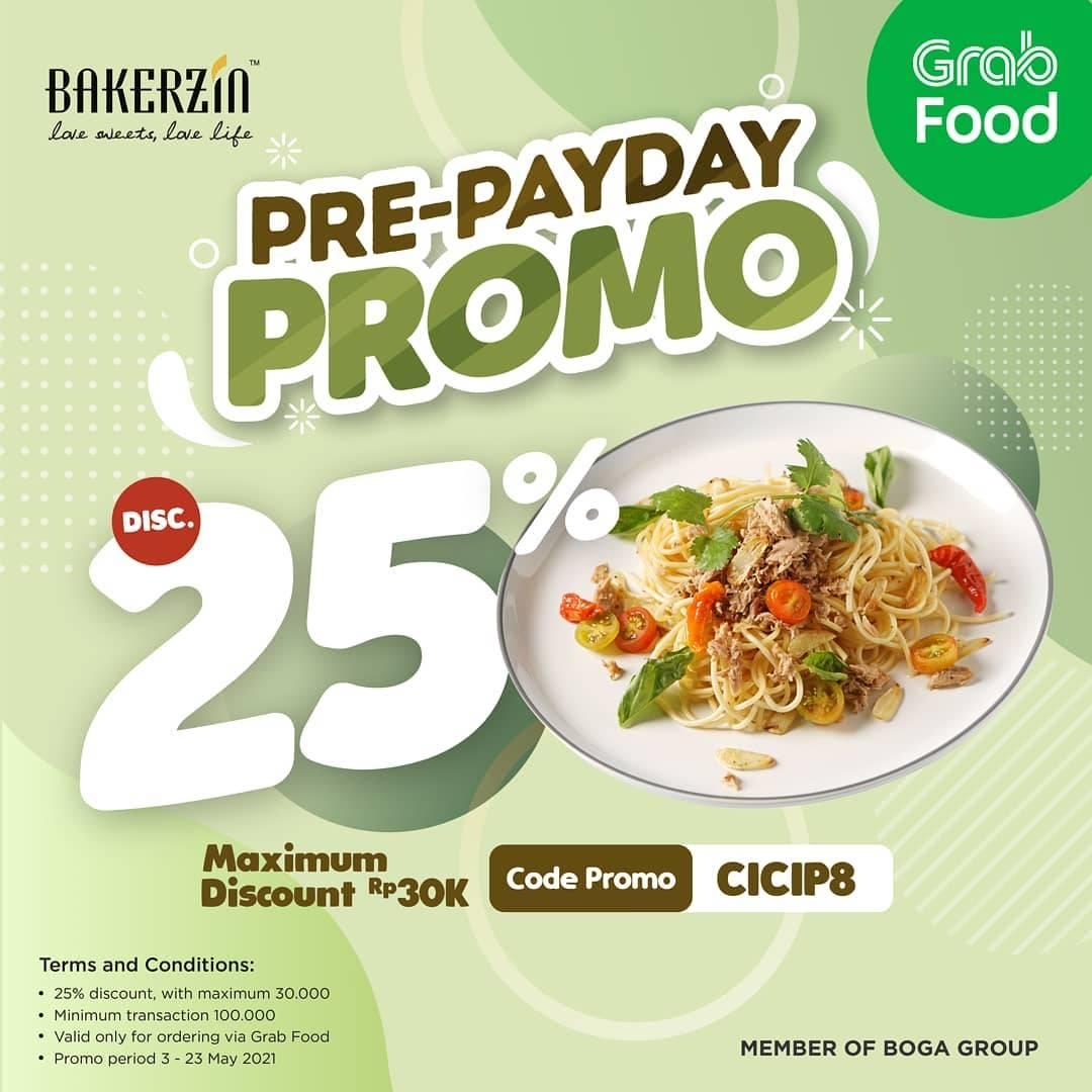 Diskon Bakerzin Discount 25% Off On GrabFood