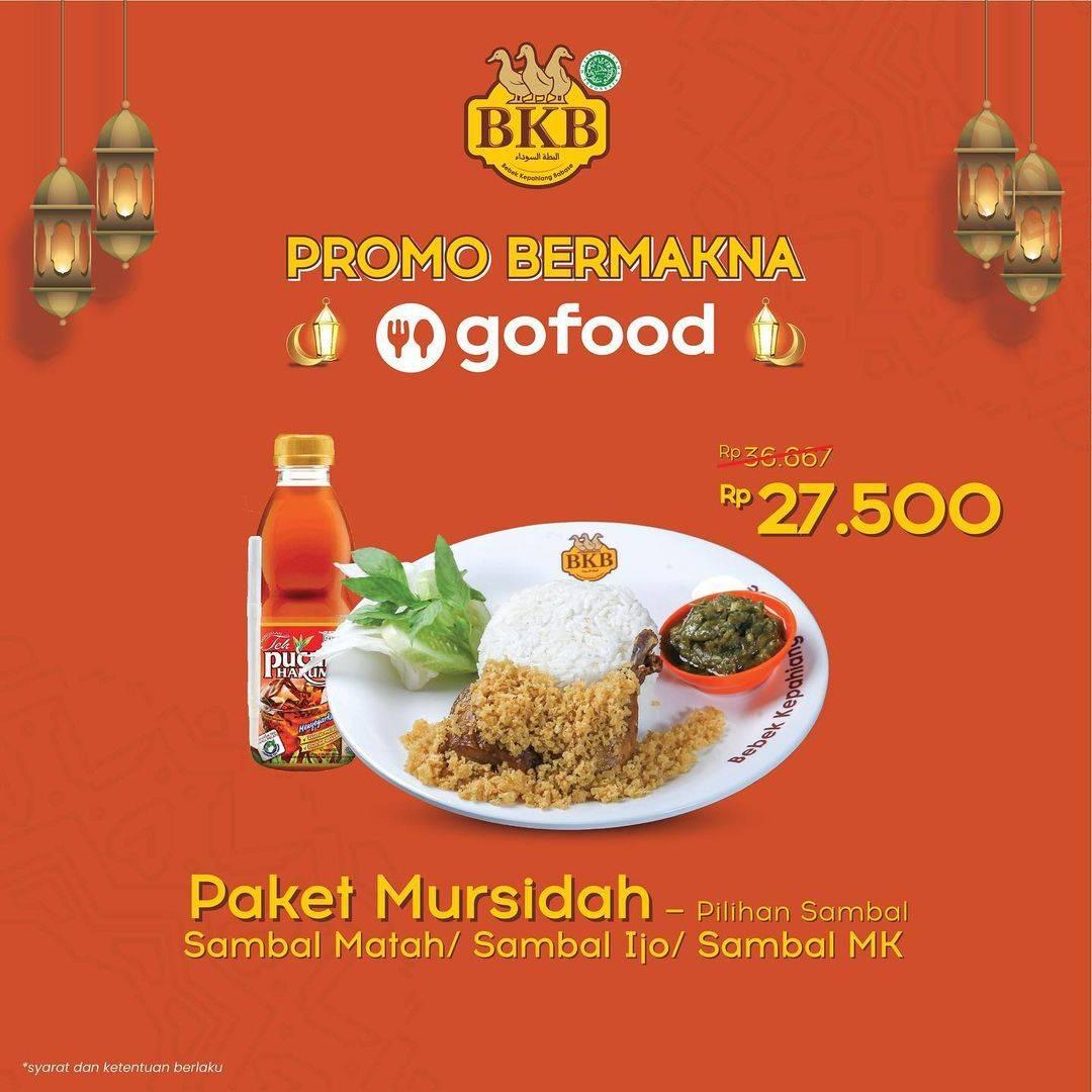Diskon Bebek BKB Promo Bermakna Paket Mursidah Hanya Rp. 27.000 Di GoFood