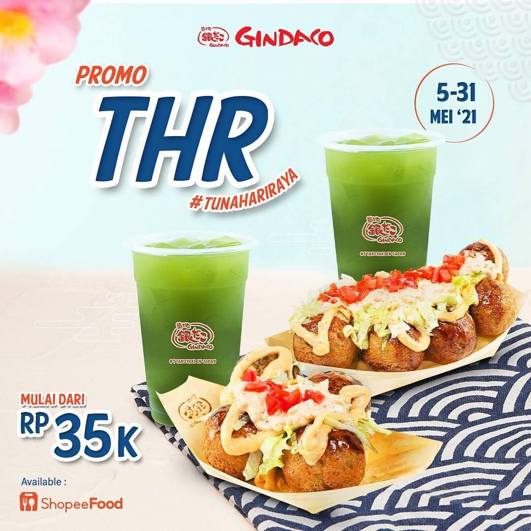 Diskon Gindaco Promo Paket THR Mulai Dari Rp. 35.000